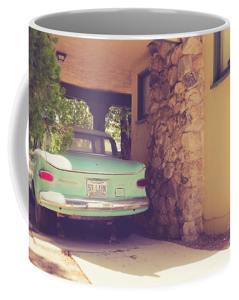 Studebaker Coffee Mug featuring the photograph 1950s Vintage Car And Home by Edward Fielding