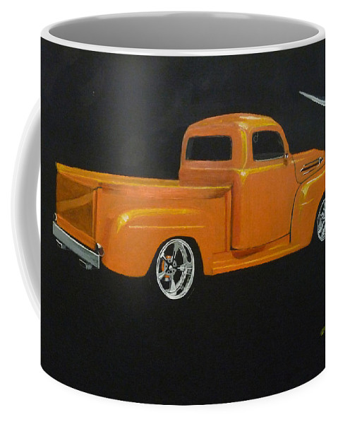 Truck Coffee Mug featuring the painting 1952 Ford Pickup Custom by Richard Le Page