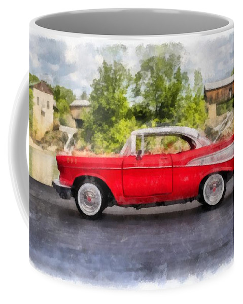 Edward Fielding Coffee Mug featuring the painting 1957 Chevrolet Bel Air Watercolor by Edward Fielding