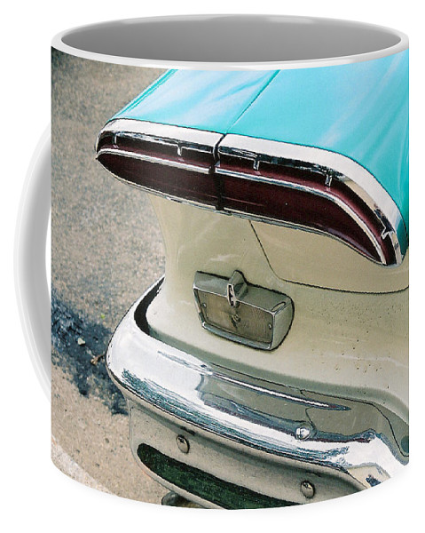 1958 Edsel Coffee Mug featuring the photograph 1958 Edsel Pacer Tail Light by Lauri Novak
