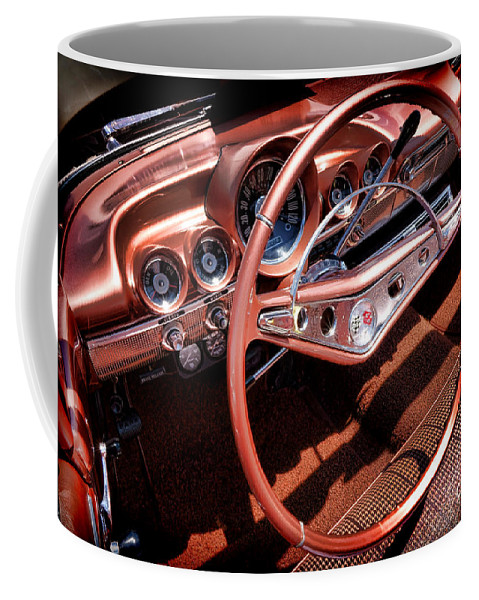 Chevrolet Coffee Mug featuring the photograph 1960 Chevrolet Impala Convertible by Olivier Le Queinec