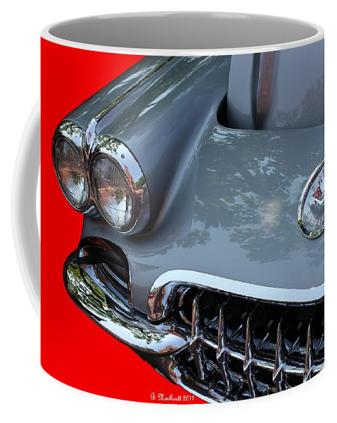 1960 Coffee Mug featuring the photograph 1960 Corvette by Betty Northcutt