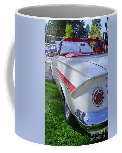 1961 Chevy Impala Coffee Mug featuring the photograph 1961 Chevrolet Impala Convertible by Mary Deal