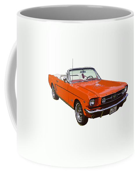 f297ab79 Mustang Coffee Mug featuring the photograph 1965 Red Convertible Ford  Mustang - Classic Car by Keith