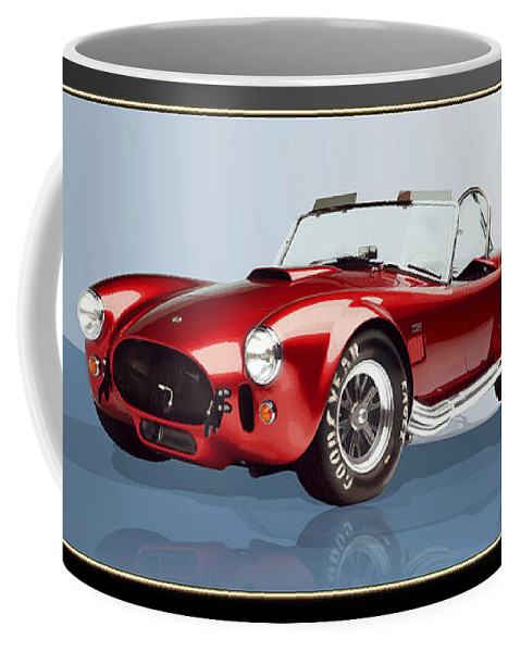 Art Coffee Mug featuring the photograph 1965 Red Shelby Cobra 427SC by Serge Averbukh