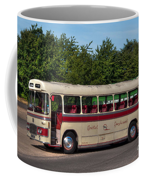 Vintage Bus Coffee Mug featuring the photograph 1966 Bristol Greyhound by Steve H Clark Photography