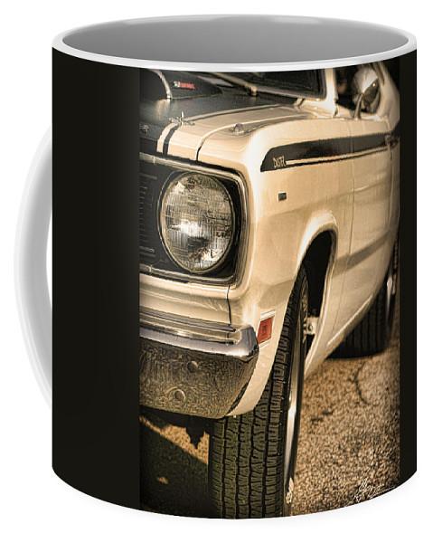 1970 Coffee Mug featuring the photograph 1971 Plymouth Duster 340 Four Barrel by Gordon Dean II