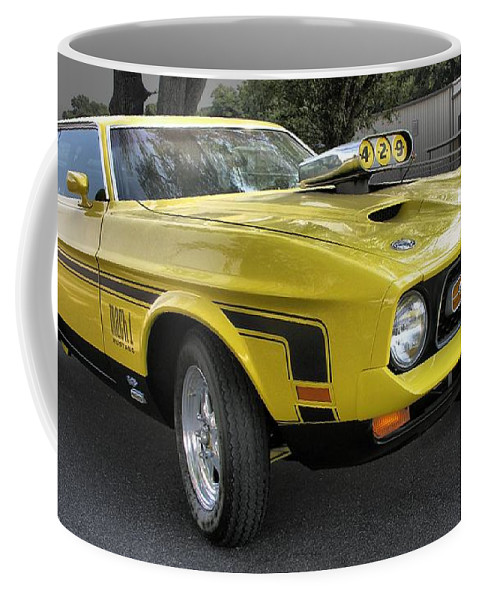 Classic Cars Coffee Mug featuring the photograph 1972 Ford Mustang Mach 1 by Richard Rizzo