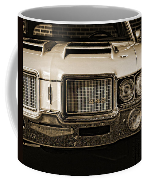 1972 Coffee Mug featuring the photograph 1972 Olds 442 - Sepia by Gordon Dean II