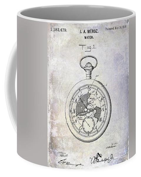 1916 pocket watch patent blueprint coffee mug for sale by jon neidert front right view malvernweather Choice Image