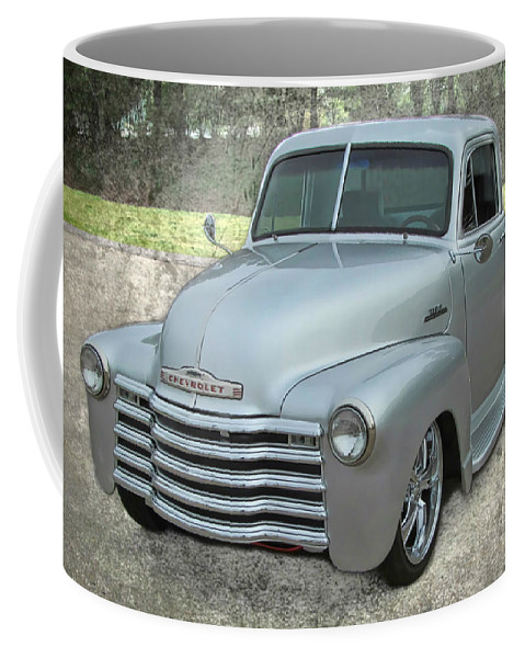 Victor Montgomery Coffee Mug featuring the photograph '53 Chevy Truck by Victor Montgomery