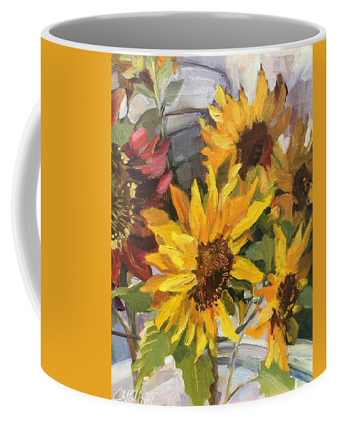 Sunflowers Coffee Mug featuring the painting $2 A Stem by Cory Wright