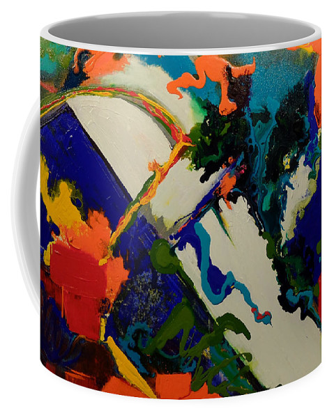 Orange Coffee Mug featuring the painting On The Road by Gail Goren