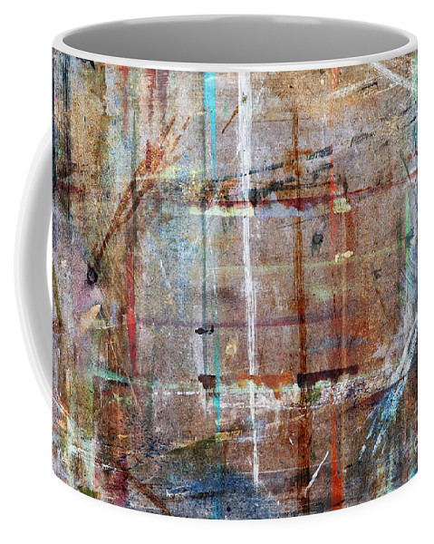 Artwork Coffee Mug featuring the painting Abstract by Michal Boubin