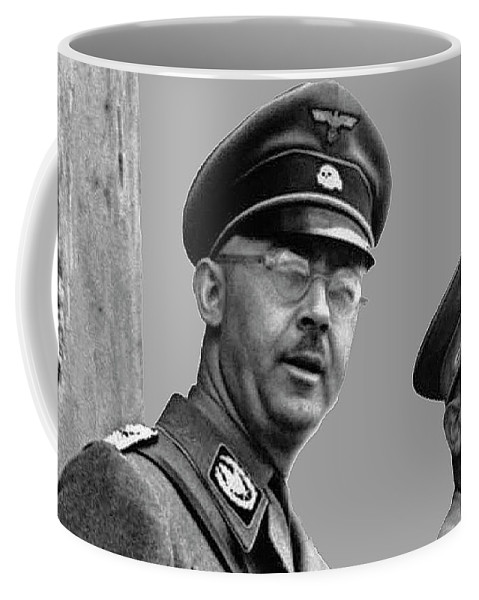 Adolf Hitler And Gestapo Head Heinrich Himmler Watching Parade Of Nazi Stormtroopers 1940-2015 Coffee Mug featuring the photograph Adolf Hitler And Gestapo Head Heinrich Himmler Watching Parade Of Nazi Stormtroopers 1940-2015 by David Lee Guss