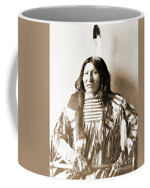 Native Coffee Mug featuring the photograph American Indian Chief by Gary Wonning