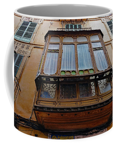 Artistic Architecture Coffee Mug featuring the photograph Artistic Architecture In Palma Majorca Spain by Richard Rosenshein