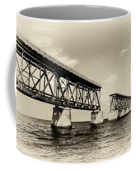 Clouds Coffee Mug featuring the photograph Bahia Honda Bridge by Gary Oliver
