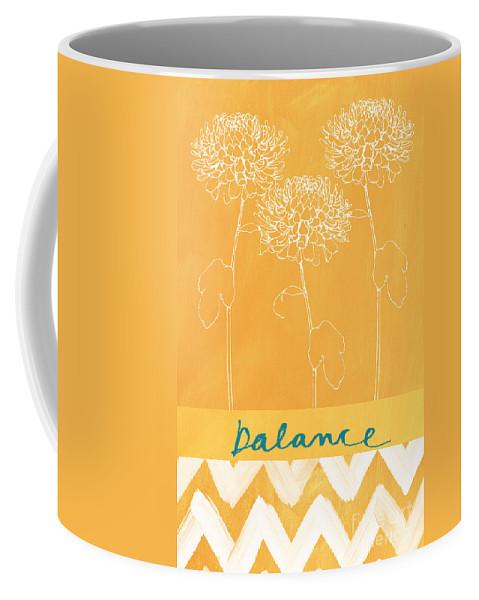 Balance Coffee Mug featuring the painting Balance by Linda Woods
