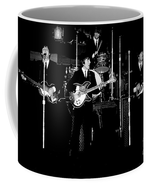 Beatles Coffee Mug featuring the photograph Beatles In Concert 1964 by Larry Mulvehill