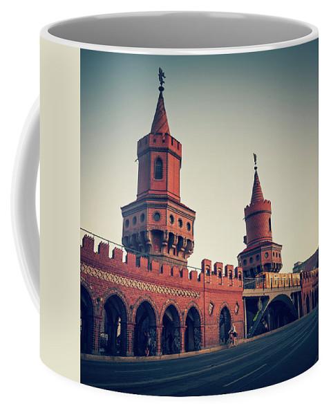 Berlin Coffee Mug featuring the photograph Berlin - Oberbaum Bridge by Alexander Voss