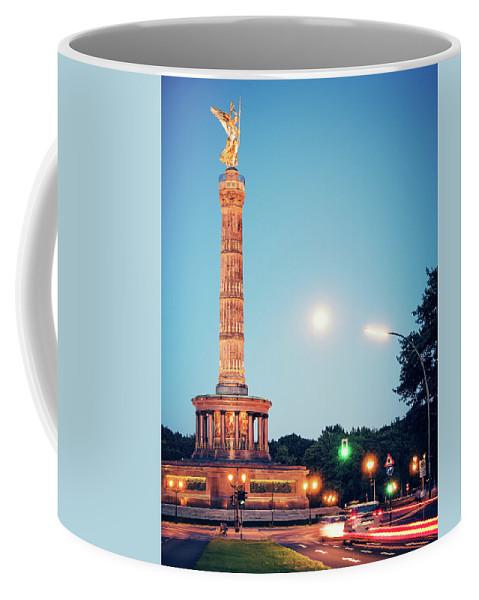 Berlin Coffee Mug featuring the photograph Berlin - Victory Column by Alexander Voss