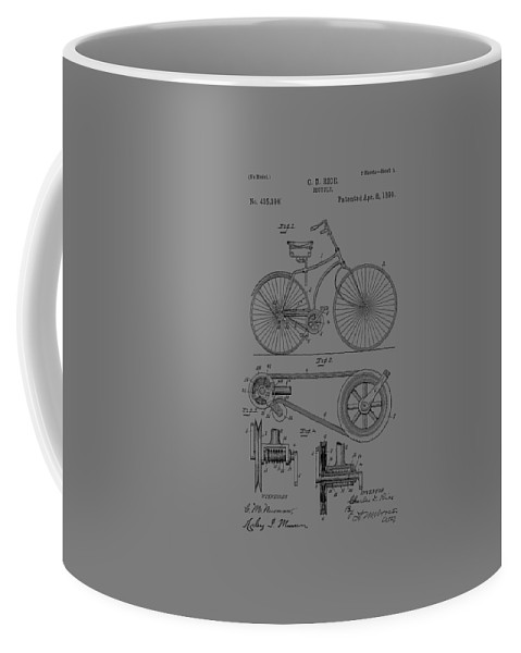 Bicycle Coffee Mug featuring the photograph Bicycle Patent From 1890 by Chris Smith
