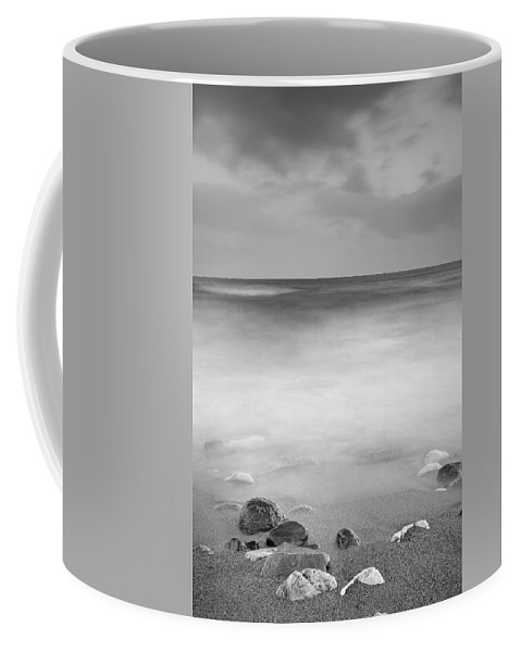 Water Coffee Mug featuring the photograph Black Stones by Guido Montanes Castillo