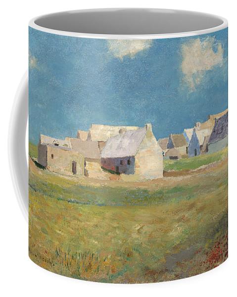 Odilon Redon Coffee Mug featuring the painting Breton Village by Odilon Redon