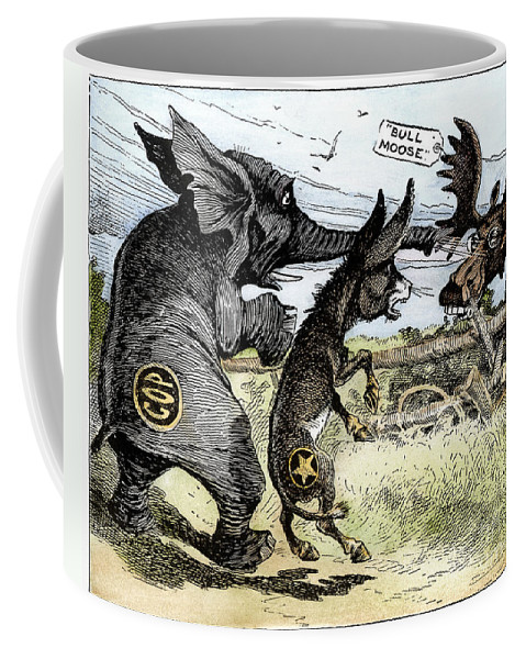 1912 Coffee Mug featuring the photograph Bull Moose Campaign, 1912 by Granger