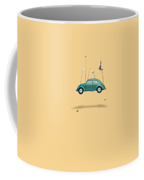 Cool Coffee Mug featuring the painting Cars by Mark Ashkenazi