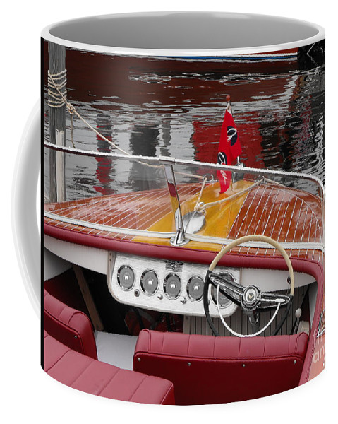 Motorboat Coffee Mug featuring the photograph Chris Craft by Neil Zimmerman