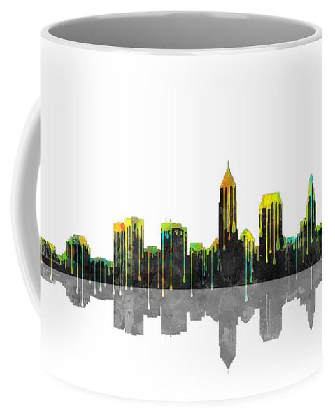 Cleveland Ohio Skyline Coffee Mug featuring the digital art Cleveland Ohio Skyline by Marlene Watson