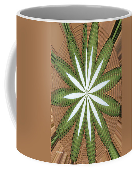 Cotton Field Abstract Coffee Mug featuring the photograph Cotton Field Abstract by Tom Janca