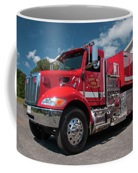 Cowee Coffee Mug featuring the photograph Cowee Fire Rescue - Tanker 1850, North Carolina by Timothy Wildey