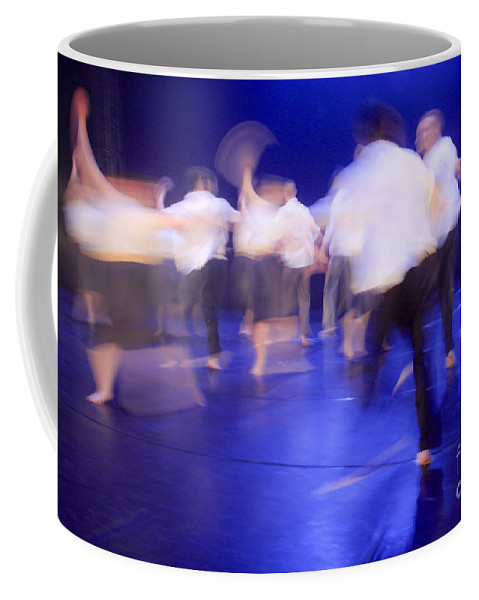 Blue Coffee Mug featuring the photograph Dancers In Motion by Vladi Alon