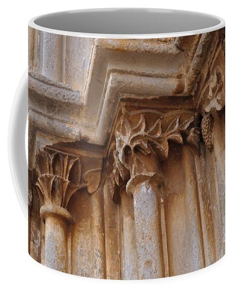 Igreja De Santa Maria Do Castelo Coffee Mug featuring the photograph Detail Of The Medieval Portal Of Saint Marys Church In Tavira. Portugal by Angelo DeVal