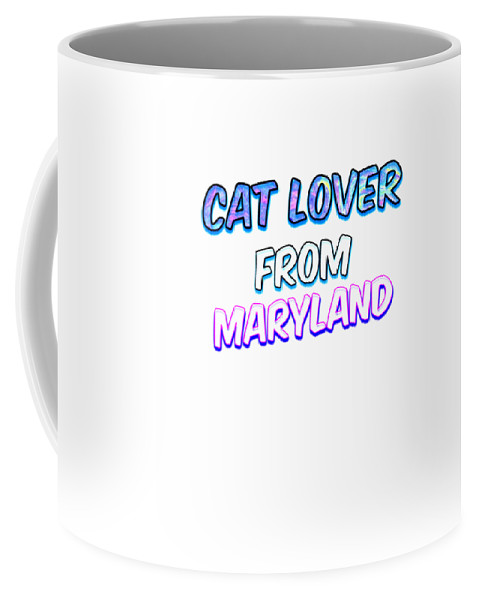 Cat Coffee Mug featuring the digital art Dog Lover From Maryland by Kaylin Watchorn