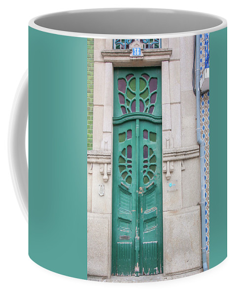 Portugal Coffee Mug featuring the photograph Doors Of Portugal by Chantelle Flores