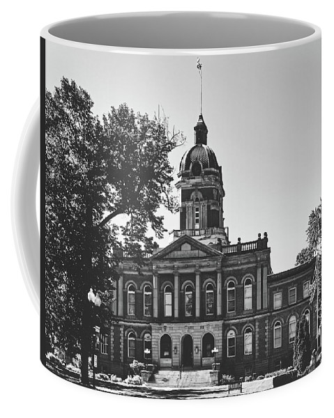 Elkhart County Courthouse Coffee Mug featuring the photograph Elkhart County Courthouse - Goshen, Indiana by Library Of Congress