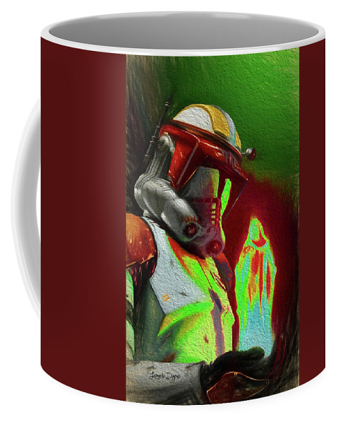 Execute Order 66 Coffee Mug featuring the painting Execute Order 66 - Free Style by Leonardo Digenio