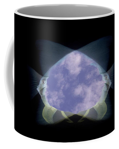 Fish Coffee Mug featuring the photograph 2 Faced Fishy by Tim Allen