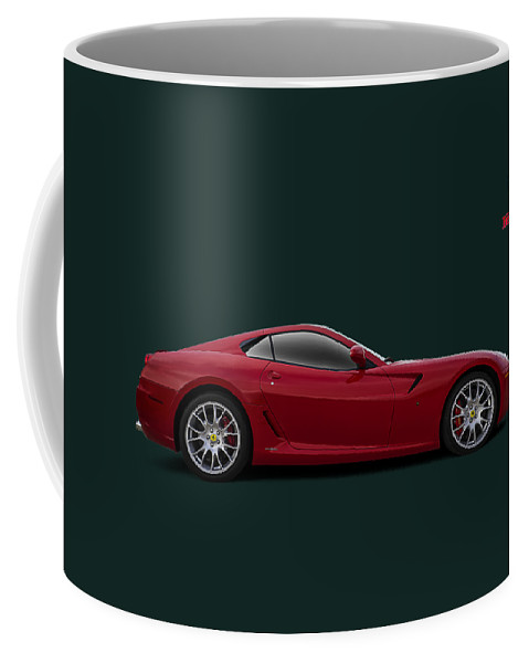 Ferrari Coffee Mug featuring the digital art Ferrari 599 Gtb by Douglas Pittman
