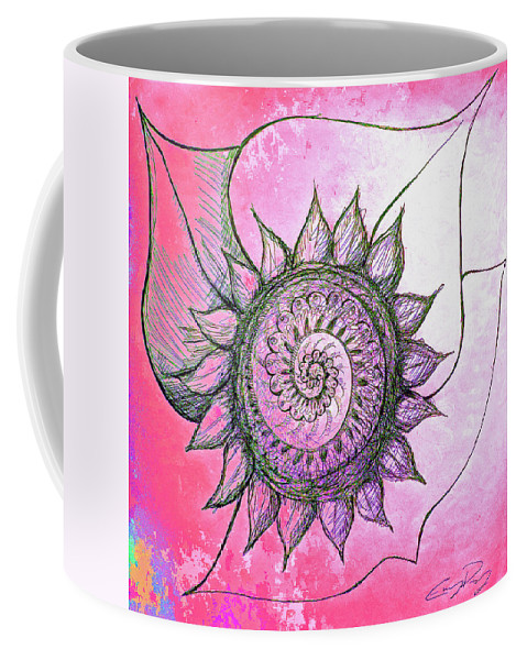 Flower Coffee Mug featuring the mixed media Flora Blushing by Emily Perry