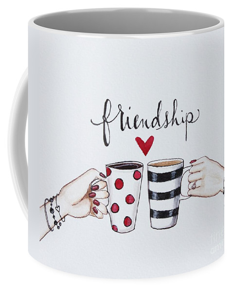 Friendship Coffee Mug featuring the painting Friendship by Elizabeth Robinette Tyndall