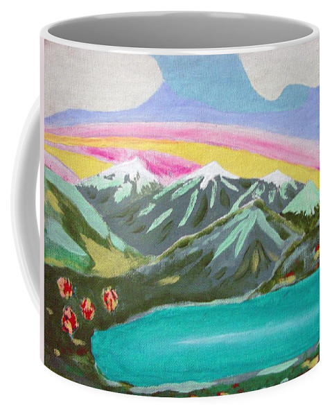 Impressionist Painting Coffee Mug featuring the painting From The Mountains To The Sea by J R Seymour