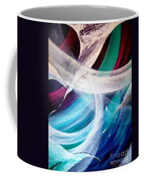 Gaia Coffee Mug featuring the painting Gaia Symphony by Kumiko Mayer