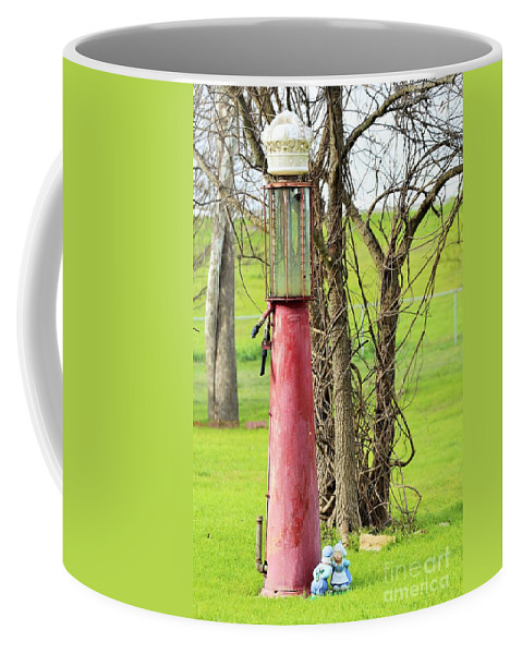Coffee Mug featuring the photograph Gas Pump by Jeff Downs