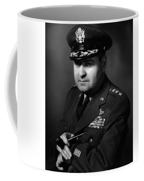 Curtis Lemay Coffee Mug featuring the photograph General Curtis Lemay 3 by War Is Hell Store
