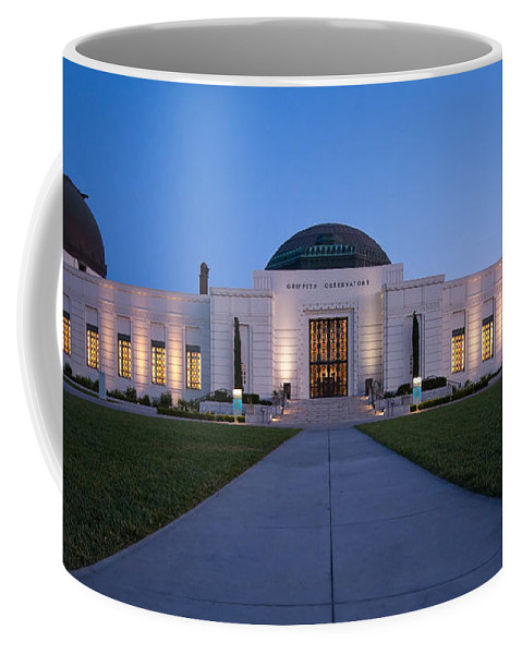3scape Coffee Mug featuring the photograph Griffith Observatory 2 by Adam Romanowicz